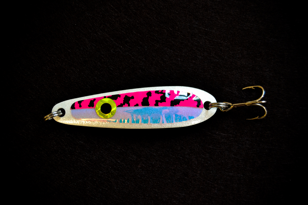"""Reid's Tiger UV"" Pearl White & Pink (#100 Size)"