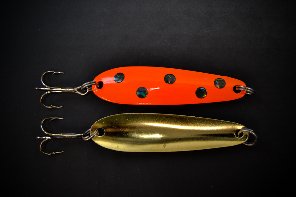 Orange & Black Dot Brass Back(#100 Size)