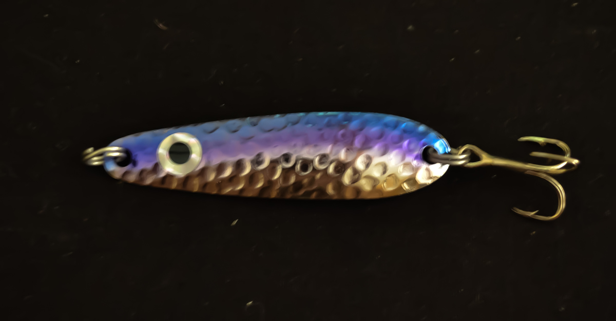 Blue/Purple Hammered Silver (#100 Size)