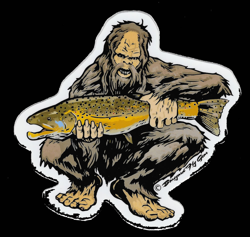 squatch brown trout decal - $7.00 : northeast troller, premium, Fly Fishing Bait